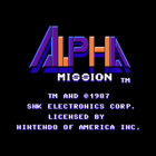 Alpha Mission (E, U) / ASO (Armored Scrum Object) (J)