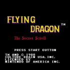 Flying Dragon: The Secret Scroll (U) / Hiryu no Ken: Ougi no Sho (J)
