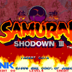 Samurai Shodown III: Blades of Blood (W) / Samurai Spirits: Zankurō Musōken (J) / Fighters Swords (KR)